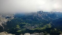 Maisemaa Dolomitin huipulta