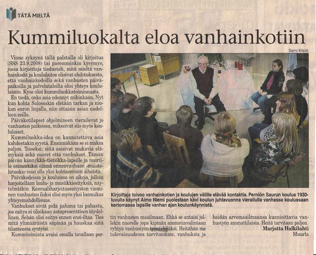 Kummiluokalta eloa vanhainkotiin sss 7.3.2009