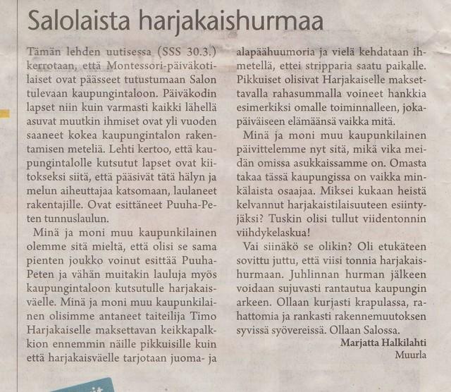 Salolaista harjakaishurmaa sss 3.4.2011