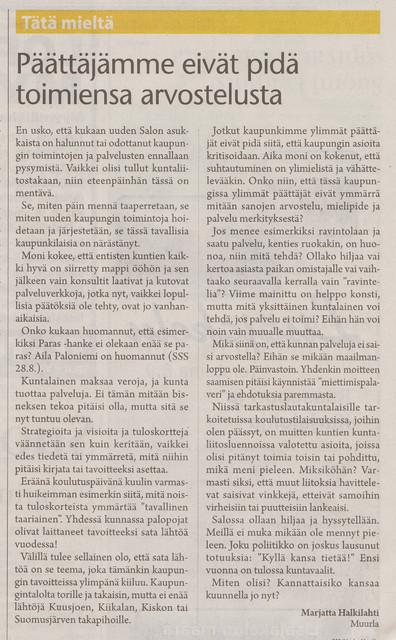 Päättäjämme eivät pidä toimiensa arvostelusta sss 31.8.2011