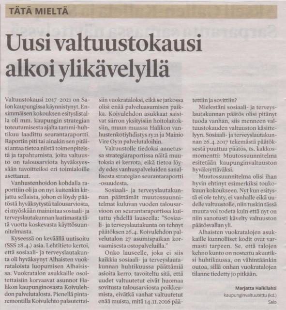 Salon Seudun Sanomat 8.6.2017