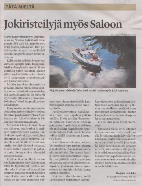 Salon Seudun Sanomat 16.8.2017