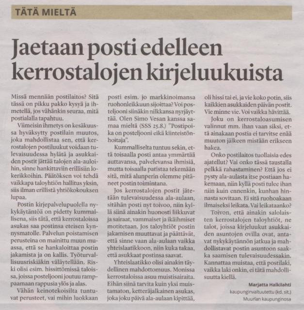 Salon Seudun Sanomat 30.8.2017