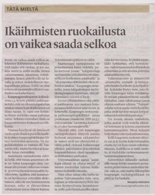 Salon Seudun Sanomat 22.3.2018