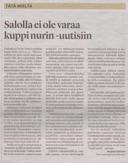 Salon Seudun Sanomat 30.3.2018