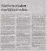 Ristivetoa Salon markkinoinnissa SSS 16.2.2020