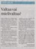 Valtaa vai mielivaltaa SSS 25.11.2020