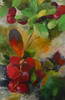 Puolukoita, 2014 öljy kankaalle , 40 x 61 cm