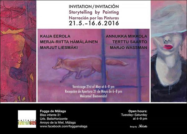 Storytelling by painting, Fogga de Malaga Espanja