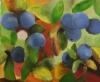Mustikat, 2016 öljy kankaalle 55 x 46 cm