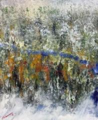 Ensilumi, 2016 öljy kankaalle 50 x 70 cm