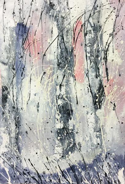 Pakkanen, 2017 öljy kankaalle 40 x 56 cm
