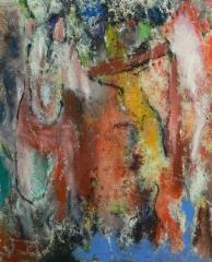 Luolahevonen, 2018 öljy kankaalle 50 x 61 cm