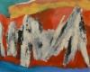 Suoja, 2018 öljy kankaalle 70 x 56 cm
