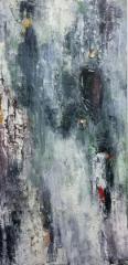 Kotipuu, 2018 öljy kankaalle 40 x 80 cm