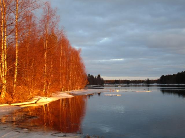 Keväinen Oulujoki