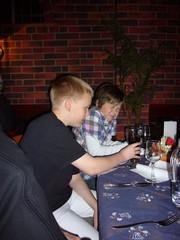 RATUn pikkujoulussa 2010 Markus ja Tumppi