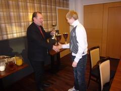 Ratatuomareiden palkinto seuran parhaalle Rotax-kuljettajalle.