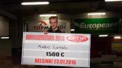 Karting-mestari 2016 shekkeineen
