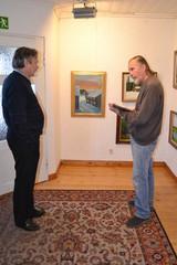 Taidenäyttelyn ripustus 16.3.2015 Timo Olavi Jalkasen kanssa Art Pispalassa