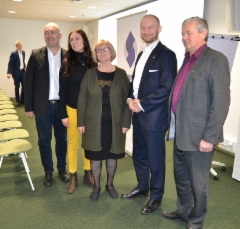 Senaattorit ja ministeri Tampereen Metsossa 10.11.2018