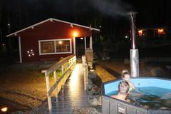 Savusauna ja kylpytynnyri olivat kovassa käytössä