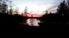 Auringonlasku elokuussa