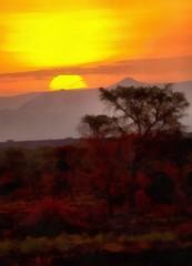 Ugandan päivä kääntyy iltaan
