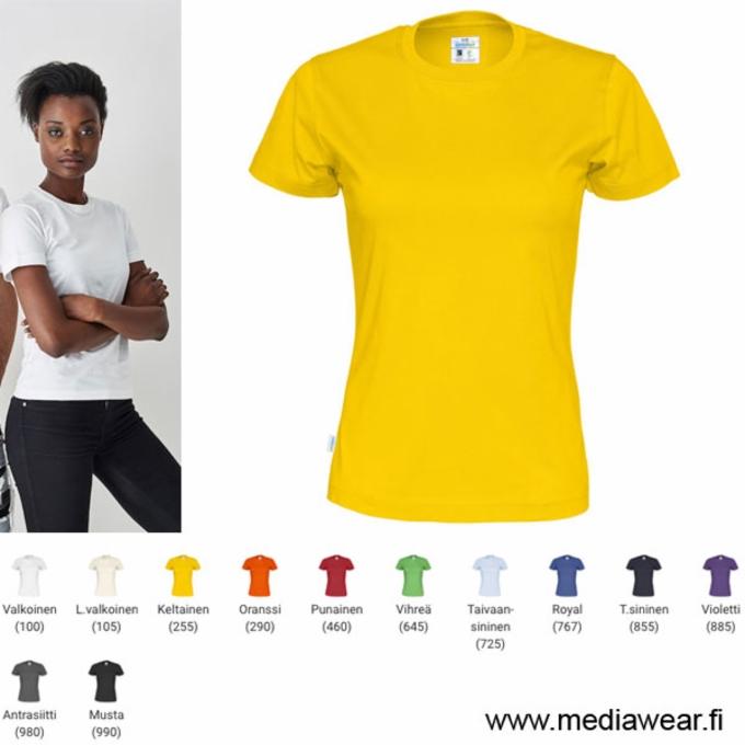 Cottover naisten t-paita on valmistettu Reilun kaupan luomupuuvillasta.  Puuvilla tulee kahdelta Reilun kaupan viljelijältä Intiasta. Puuvilla on  ekologista ... c50ca6224b