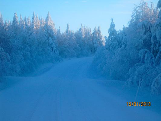 Talvisia kuvia Virsuniemen tieltä