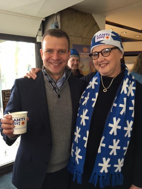 Mariankadun Sinuhessa 4.3.2017 Petteri Orpon kanssa
