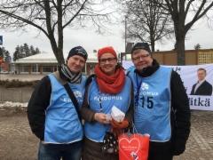 Markus Pälli, Merja Vahter ja Pasi Huhtinen