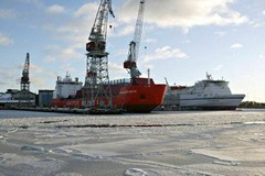 Helsingin Telakkaa talvimaisemissa