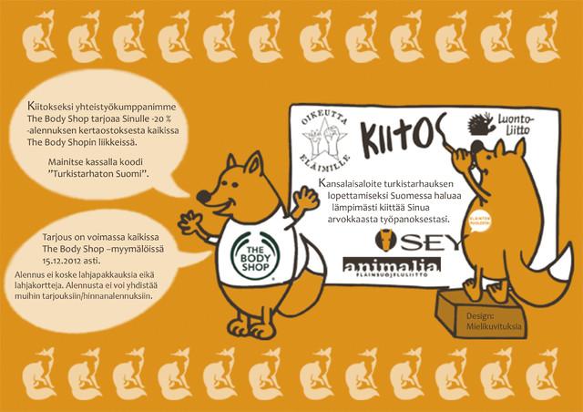 Turkistarhaton Suomi kansalaisaloite kortti