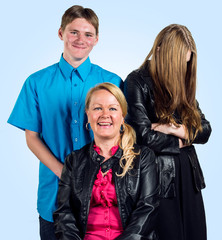 Liinan perhe: Liina, Jakke ja Milla