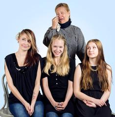 Dianan perhe: Diana, Helmi, Kisu ja Petra