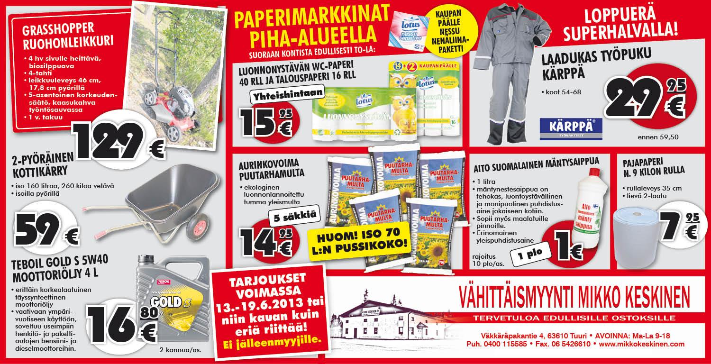 Tukkumyynti Mikko Keskinen