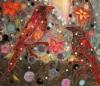 Lähikuva teoksesta, Omakuva lintujen ja kukkasten kera, 2015