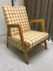 tyylikäs vuode-tuoli, uusi verhoilu