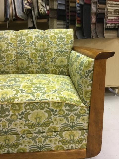 vuode-sohva, vintage kangas