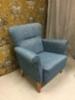 Nojatuoli Rosy blue kankaalla