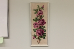 Kanavatyö ruusut(n.20cmx50cm)