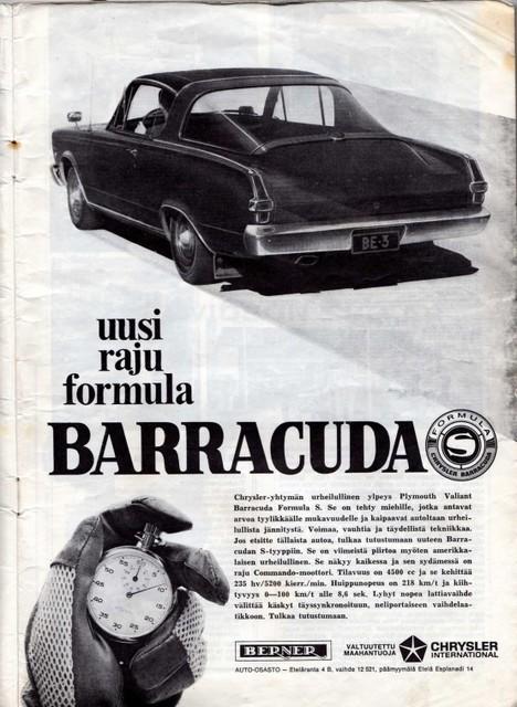plymouth barracuda -66