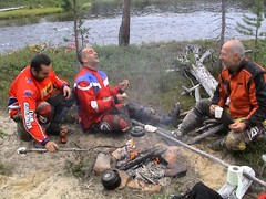 28-7-06 pedro, maxie, hanska by lutto river lapland