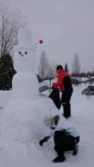 lumiukko jolla voitto tuli Lumi Unnukassa 2016