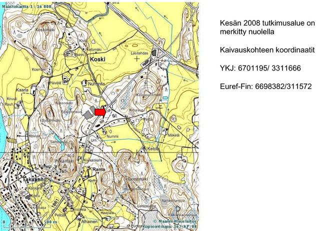 Kaivausraportti 2008 Muurlan Kotiseutuyhdistys Ry