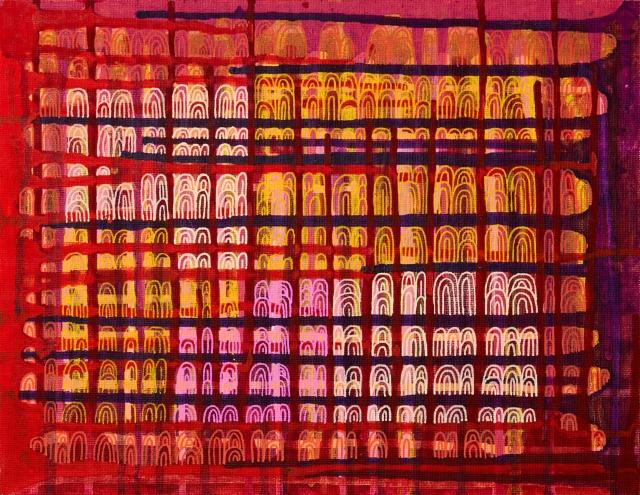 Turvapaikka / 27 x 35 cm / akryyli ja akryylitussi, kangaspahvipohja / 88€
