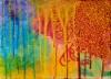 Onnimanni / 24 x 33 cm / akryyli ja akryylitussi, ripustusvalmis canvas / 88€