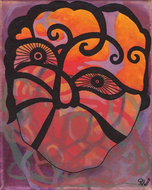 Viisaus  / 25 x 20 cm / akryyli  ja akryylitussi, ripustusvalmis canvas / 66€