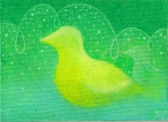 Unelma / 16 x 21,5 cm / öljypastelli, kangaspahvipohja / 33€